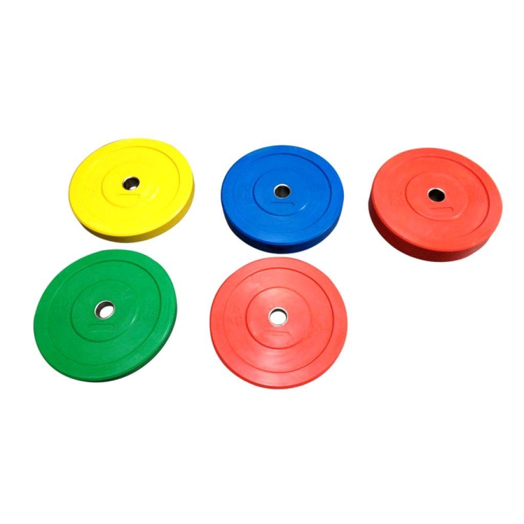 Bumper plates anvendes til styrkeløft og crossfit