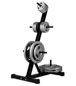Et stativ til vægtskiver er en smart måde at opbevare vægtskiver og undgå rod