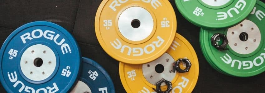 Vægtskiver i forskellige farver